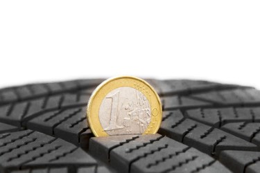 coin in a tyre